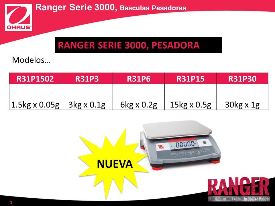 Ranger Serie 3000, Basculas Pesadoras