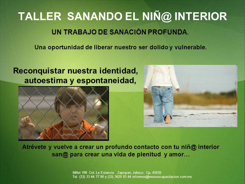 TALLER SANANDO EL NIÑ@ INTERIOR