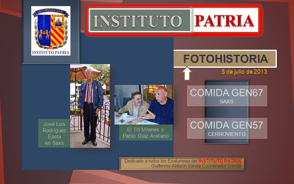 INSTITUTO PATRIA FOTOHISTORIA COMIDA GEN67 COMIDA GEN57