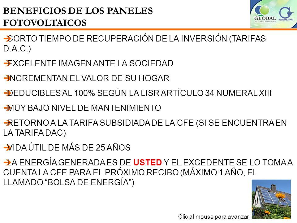 BENEFICIOS DE LOS PANELES FOTOVOLTAICOS