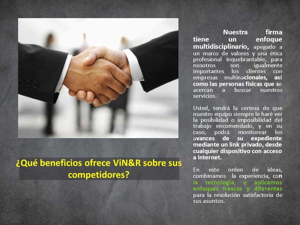 ¿Qué beneficios ofrece ViN&R sobre sus competidores