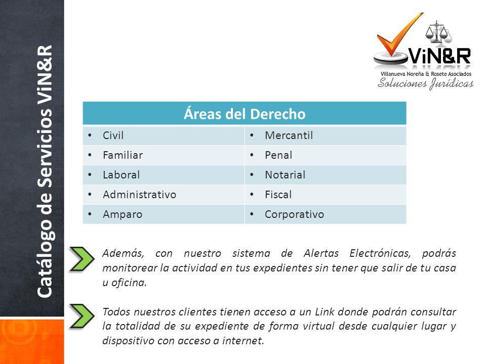 Catálogo de Servicios ViN&R