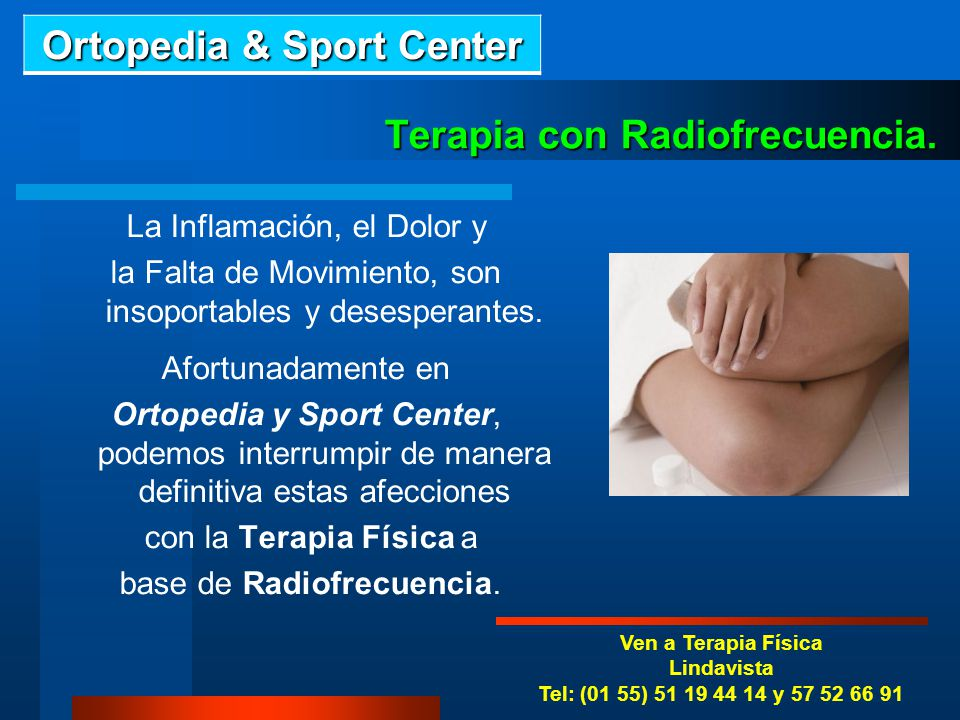 Terapia con Radiofrecuencia.