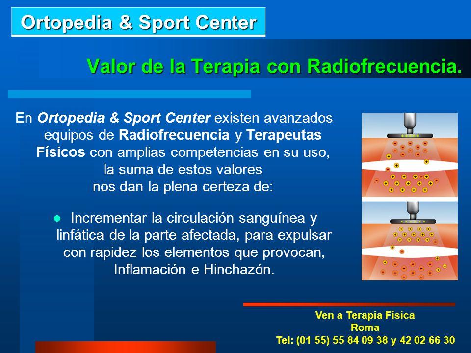 Valor de la Terapia con Radiofrecuencia.