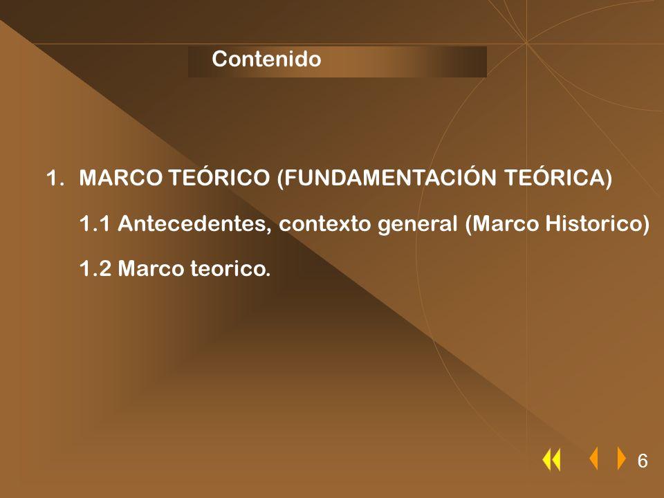 MARCO TEÓRICO (FUNDAMENTACIÓN TEÓRICA)