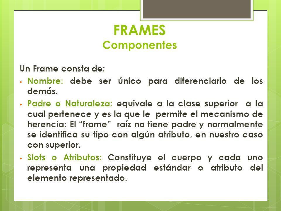 FRAMES Componentes Un Frame consta de: