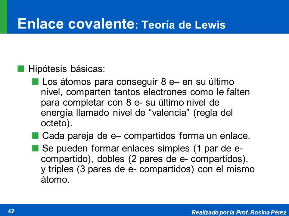Enlace covalente: Teoría de Lewis