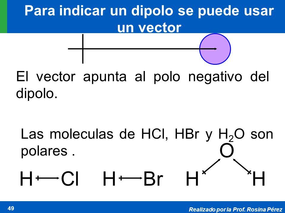 Para indicar un dipolo se puede usar un vector