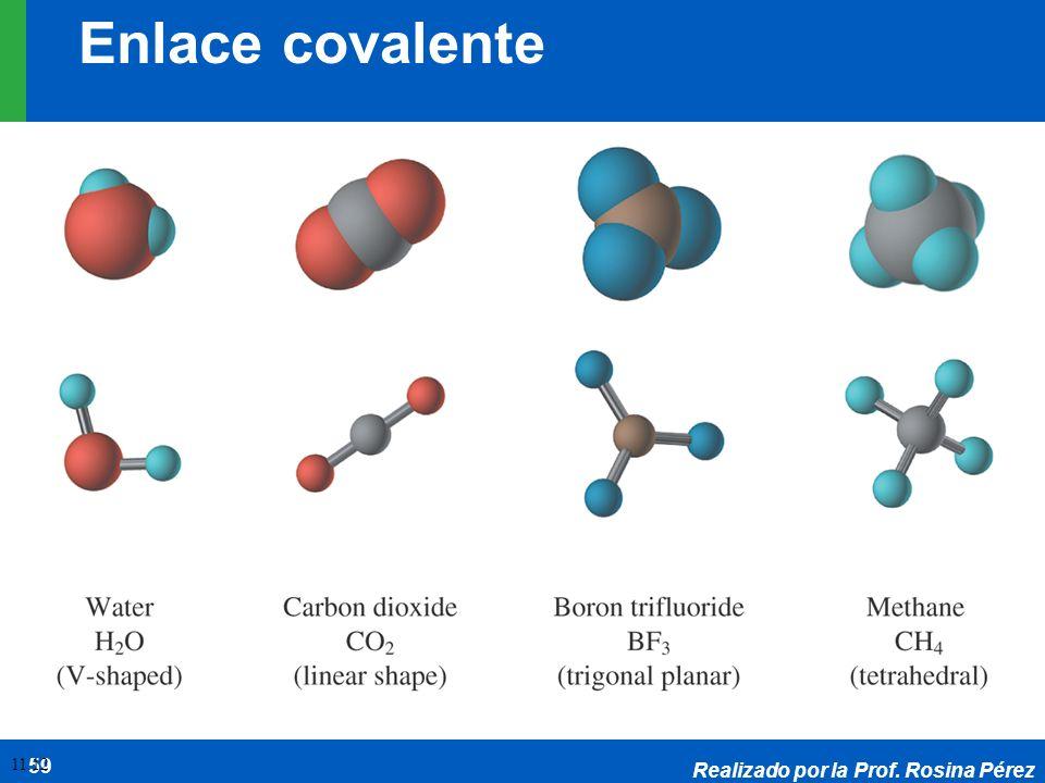 Enlace covalente 11.12 Realizado por la Prof. Rosina Pérez