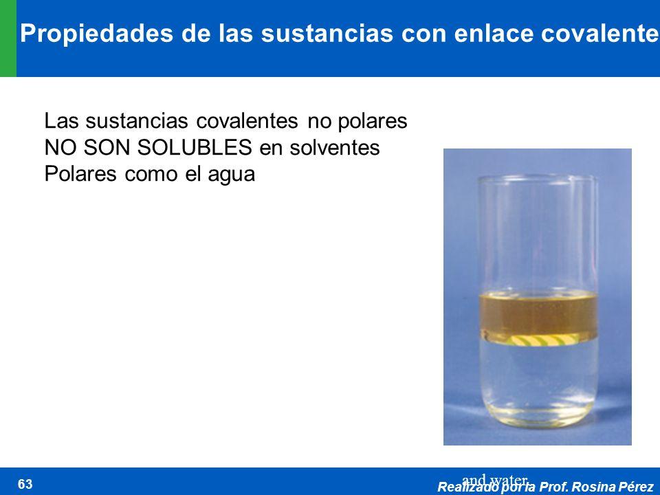 Propiedades de las sustancias con enlace covalente