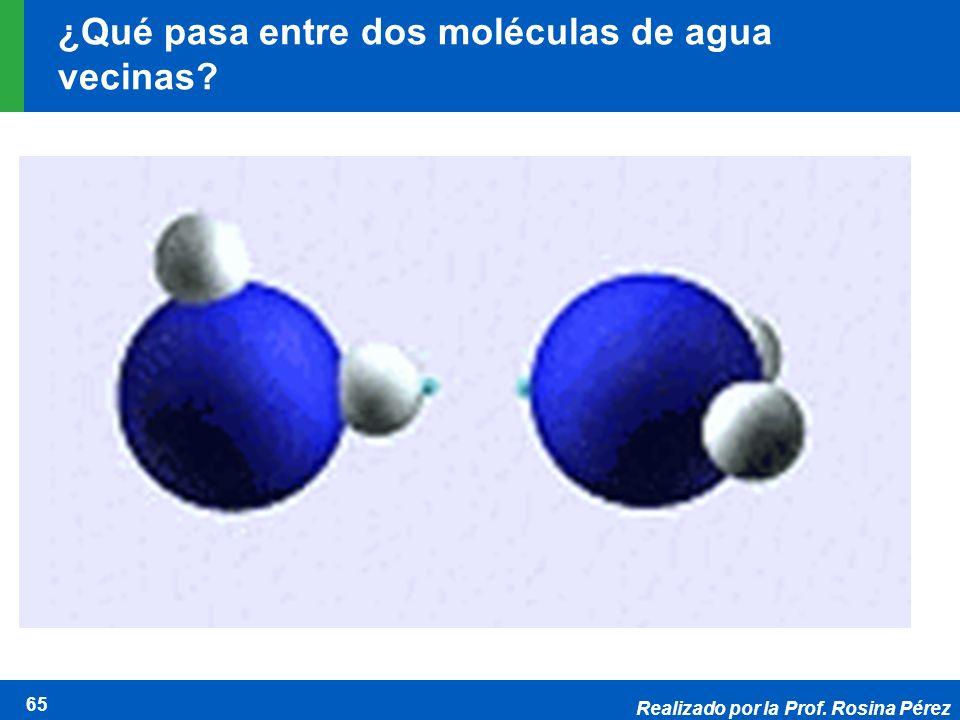 ¿Qué pasa entre dos moléculas de agua vecinas
