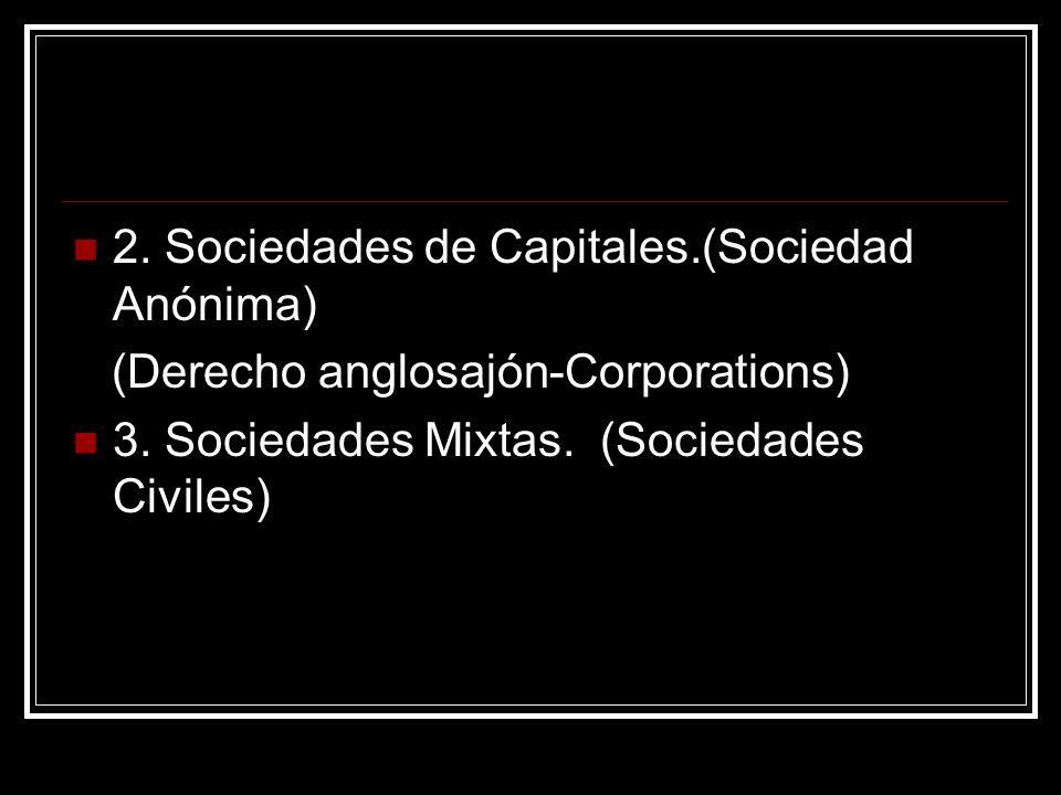 2. Sociedades de Capitales.(Sociedad Anónima)