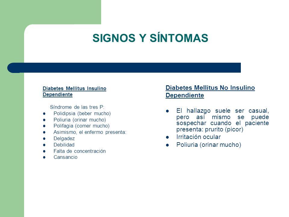 SIGNOS Y SÍNTOMAS Diabetes Mellitus No Insulino Dependiente
