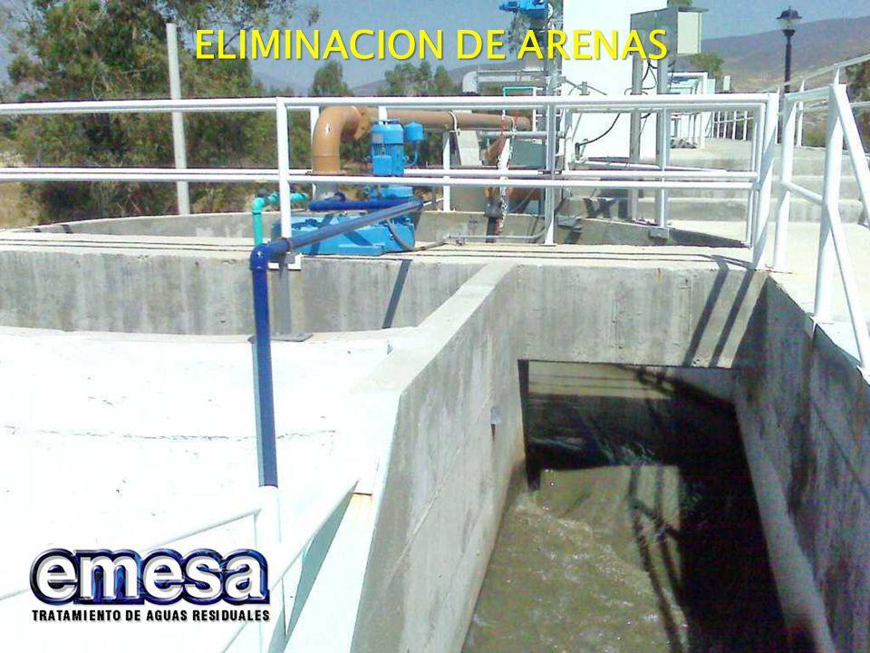 ELIMINACION DE ARENAS