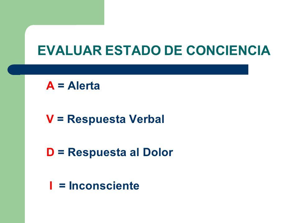 EVALUAR ESTADO DE CONCIENCIA