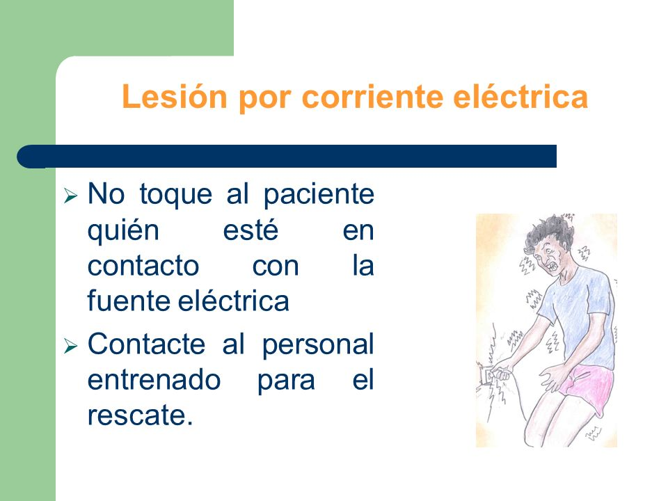 Lesión por corriente eléctrica