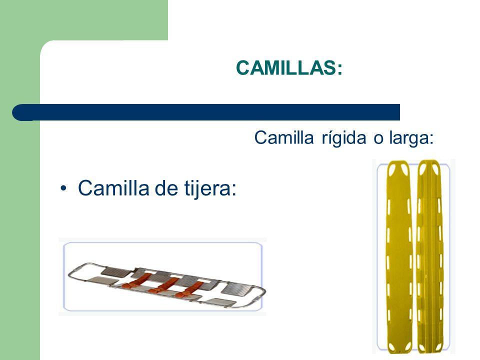 Camilla rígida o larga: