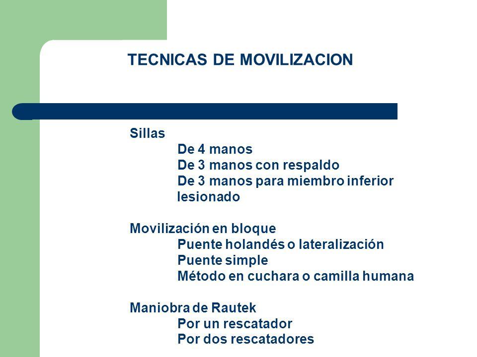 TECNICAS DE MOVILIZACION
