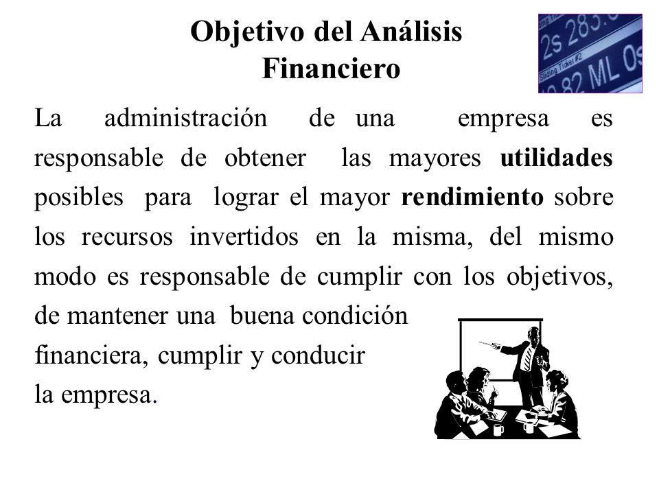 Objetivo del Análisis Financiero