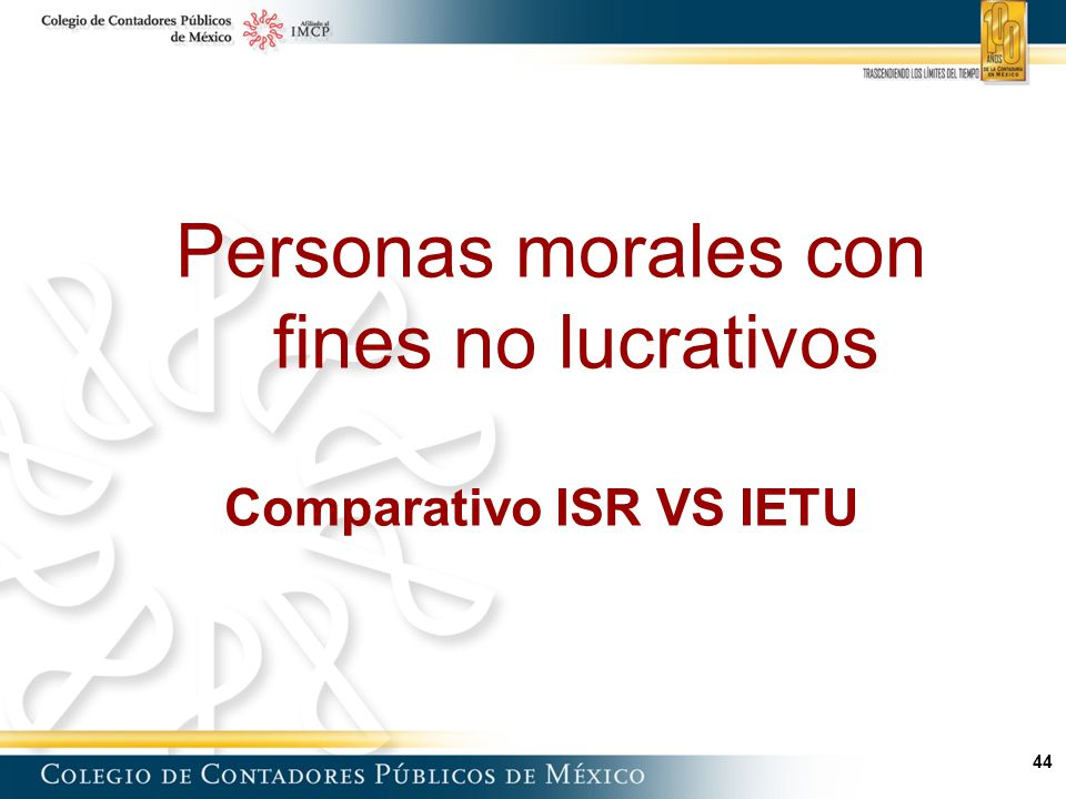 Comparativo ISR VS IETU