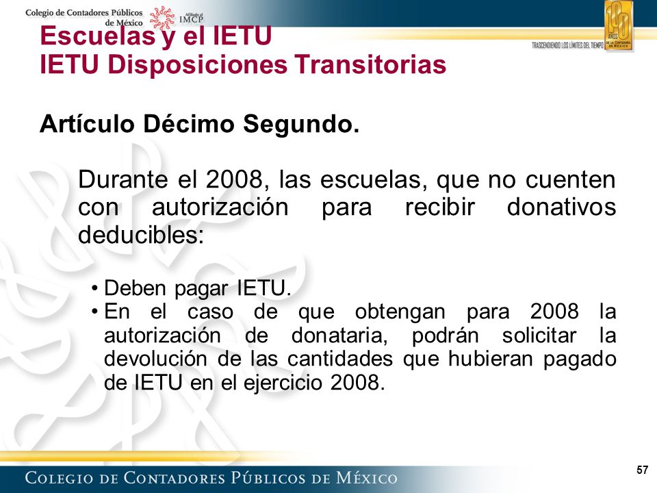 IETU Disposiciones Transitorias