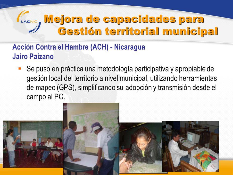 Mejora de capacidades para Gestión territorial municipal
