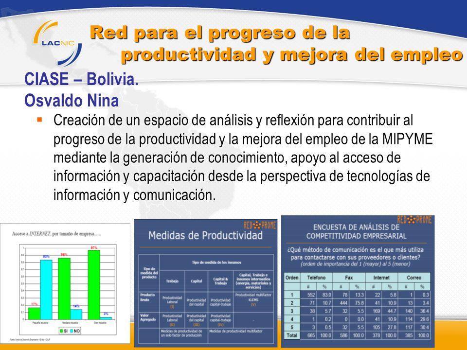Red para el progreso de la productividad y mejora del empleo