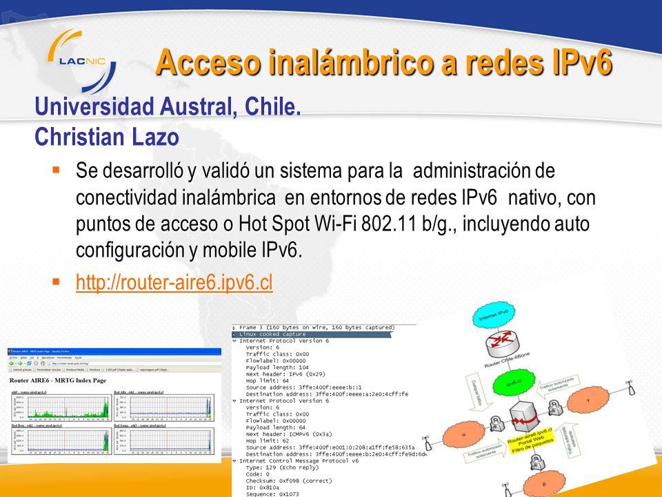 Acceso inalámbrico a redes IPv6