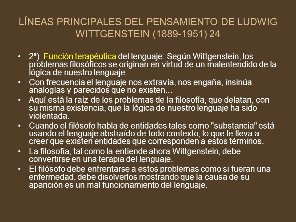 LÍNEAS PRINCIPALES DEL PENSAMIENTO DE LUDWIG WITTGENSTEIN (1889-1951) 24