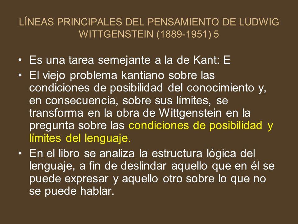 Es una tarea semejante a la de Kant: E