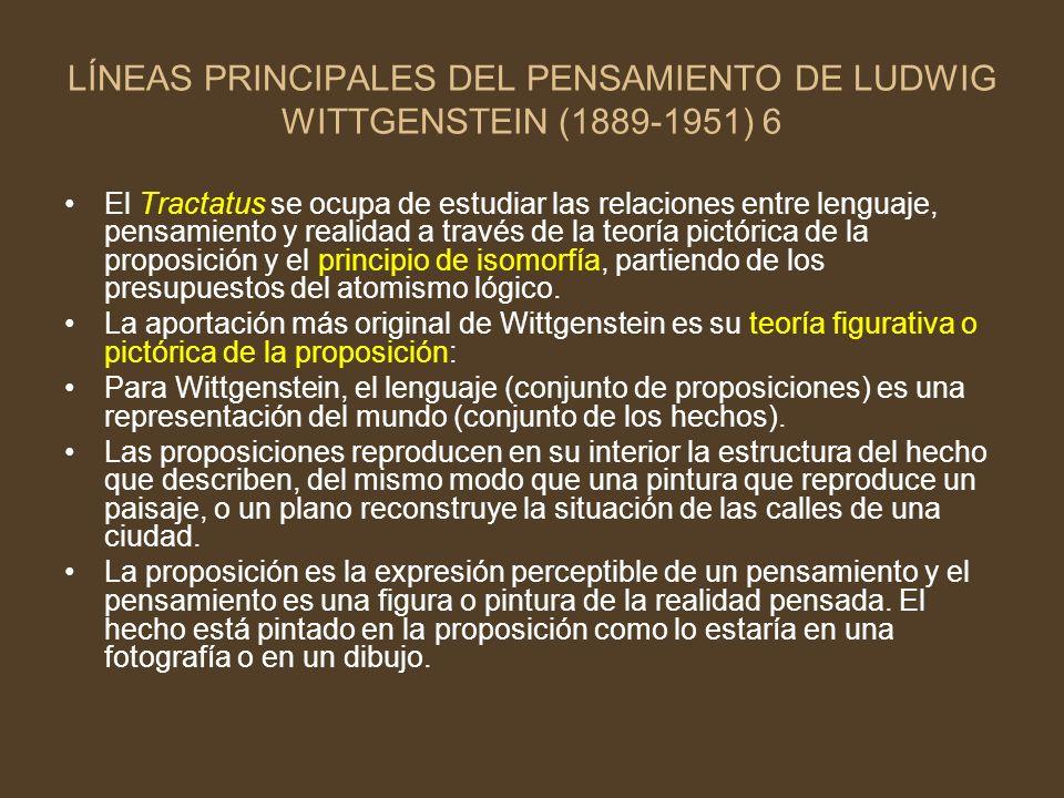 LÍNEAS PRINCIPALES DEL PENSAMIENTO DE LUDWIG WITTGENSTEIN (1889-1951) 6