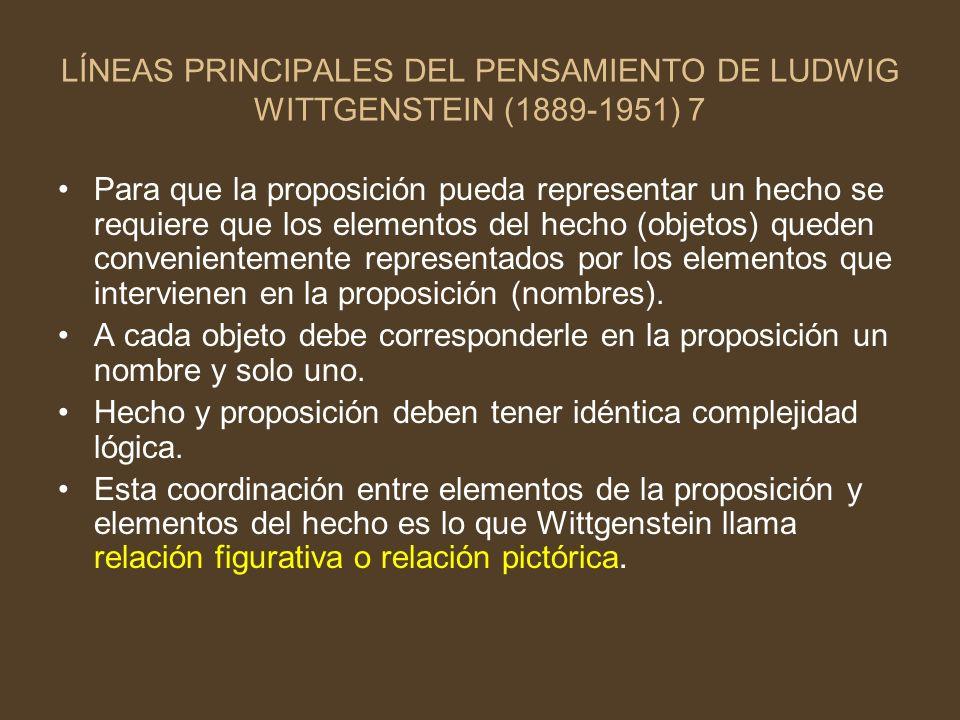 LÍNEAS PRINCIPALES DEL PENSAMIENTO DE LUDWIG WITTGENSTEIN (1889-1951) 7
