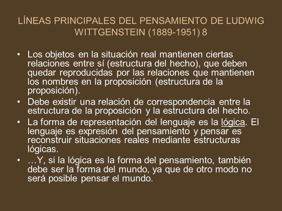 LÍNEAS PRINCIPALES DEL PENSAMIENTO DE LUDWIG WITTGENSTEIN (1889-1951) 8