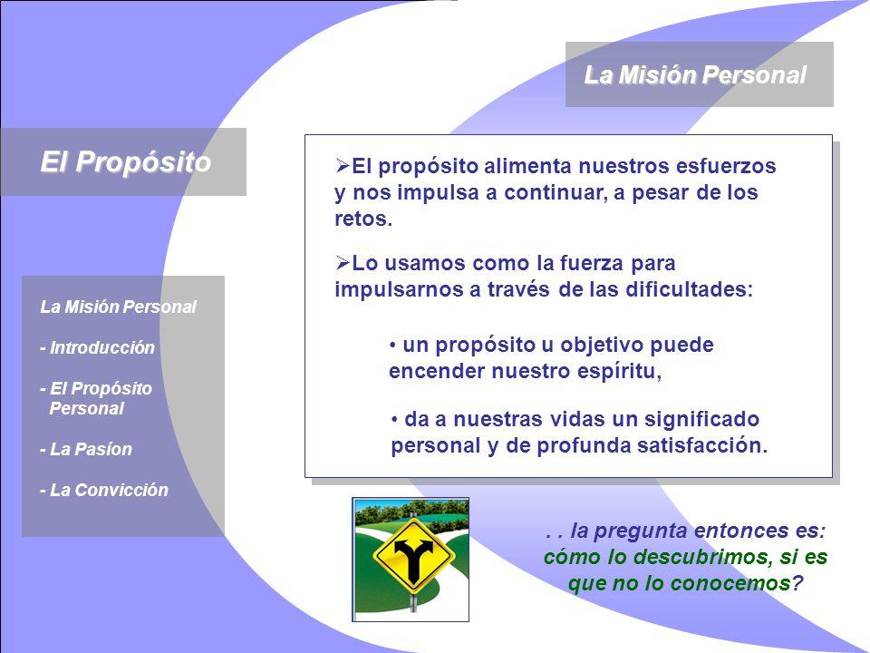 El Propósito La Misión Personal