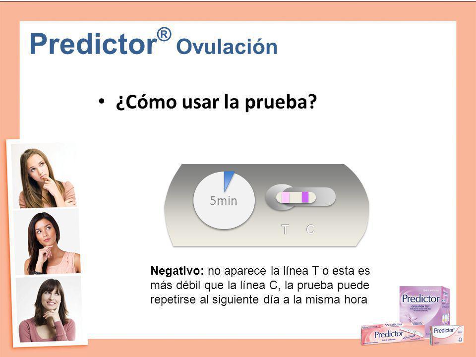 Predictor® Ovulación ¿Cómo usar la prueba 5min T C