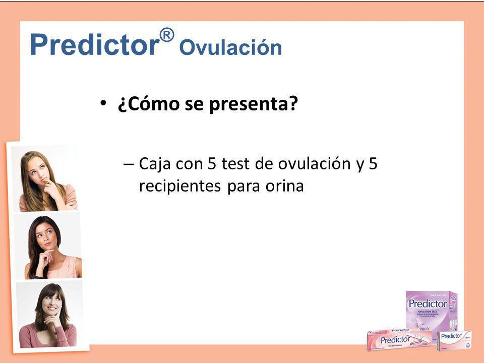 Predictor® Ovulación ¿Cómo se presenta