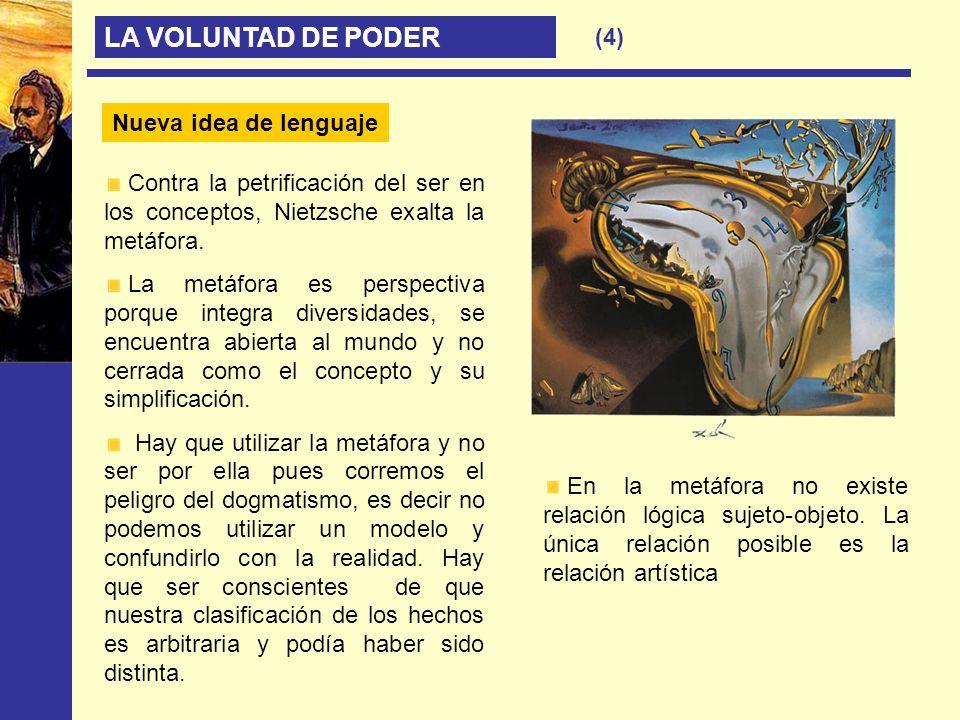 LA VOLUNTAD DE PODER (4) Nueva idea de lenguaje
