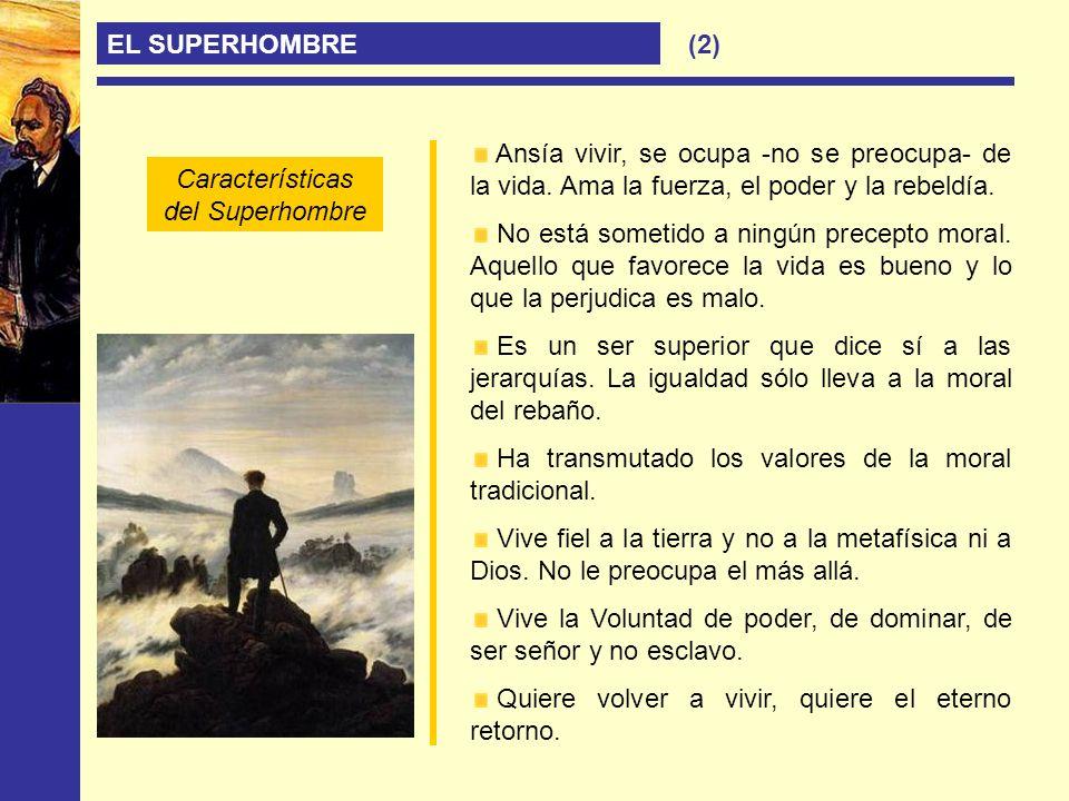 Características del Superhombre