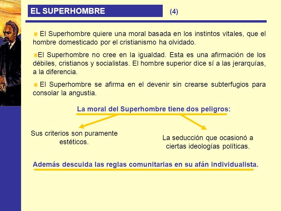 La moral del Superhombre tiene dos peligros: