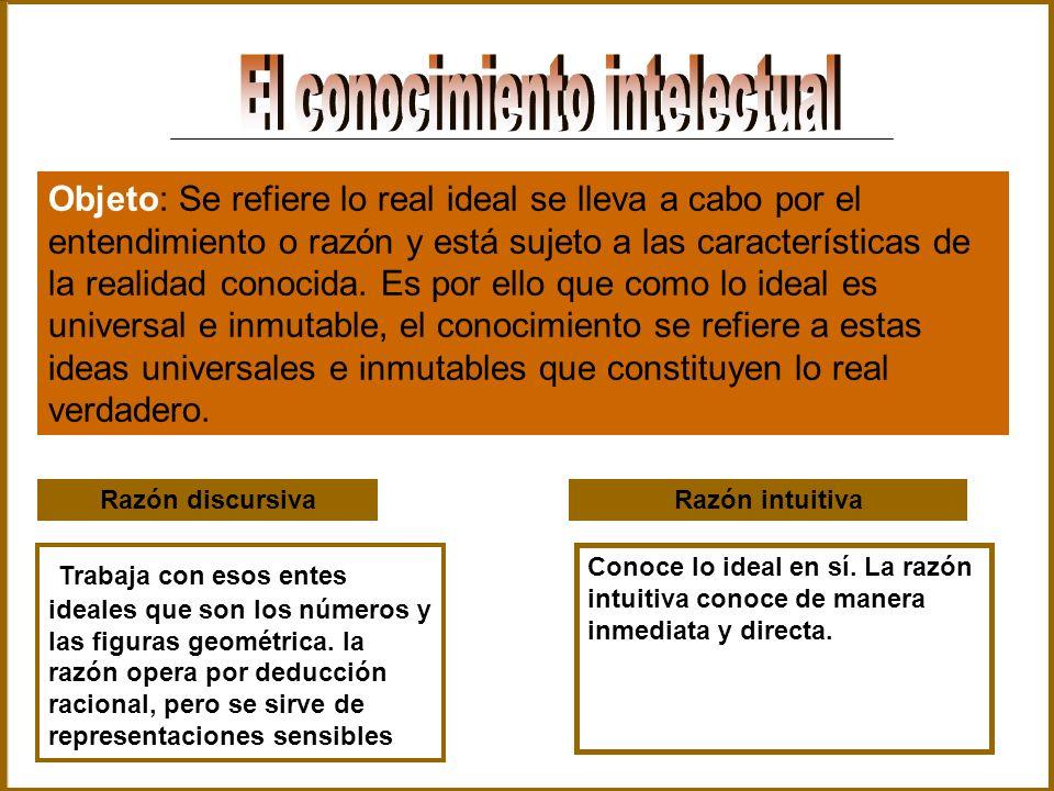 El conocimiento intelectual