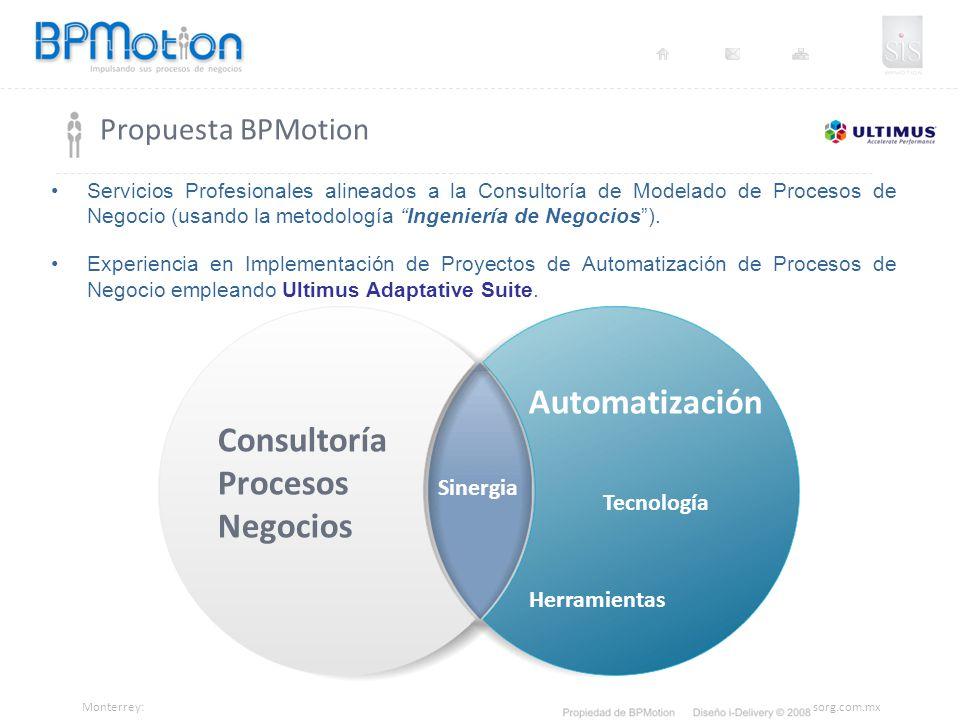 Automatización Consultoría Procesos Negocios Propuesta BPMotion