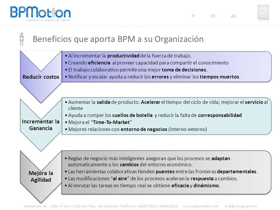 Beneficios que aporta BPM a su Organización