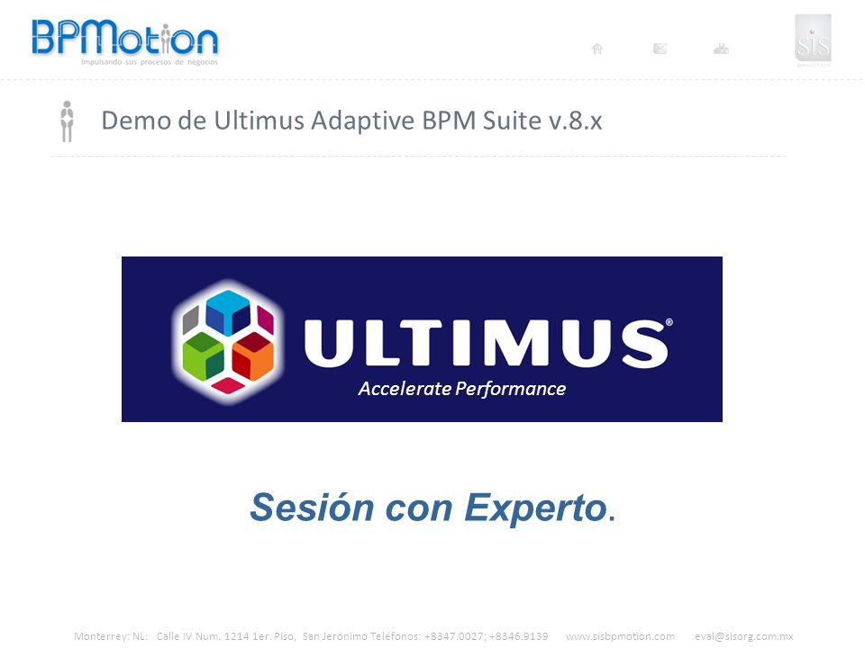 Demo de Ultimus Adaptive BPM Suite v.8.x