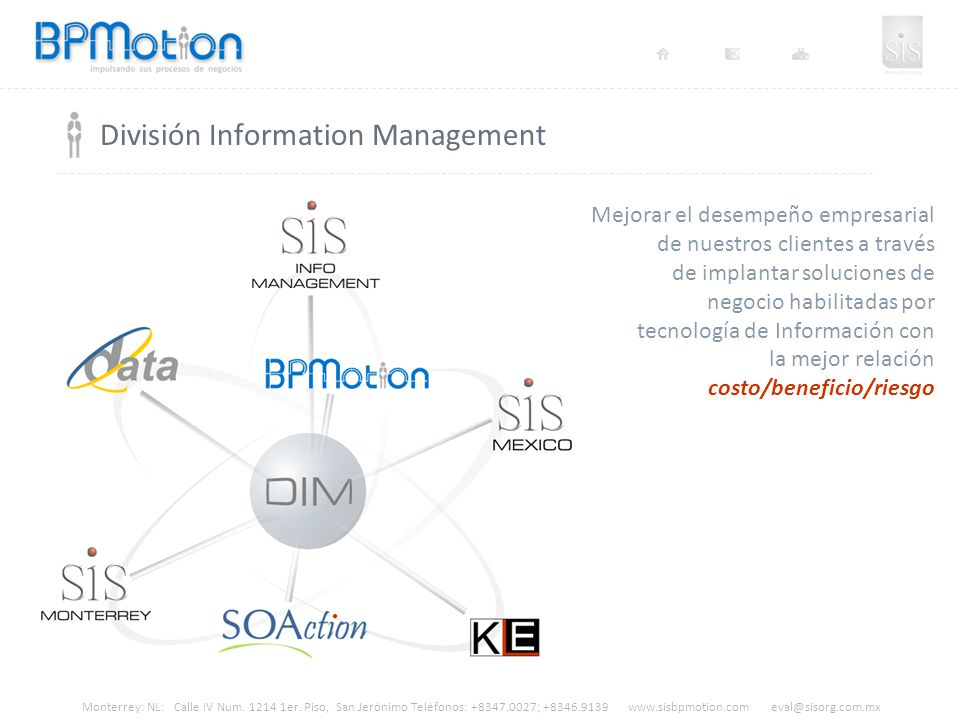 División Information Management