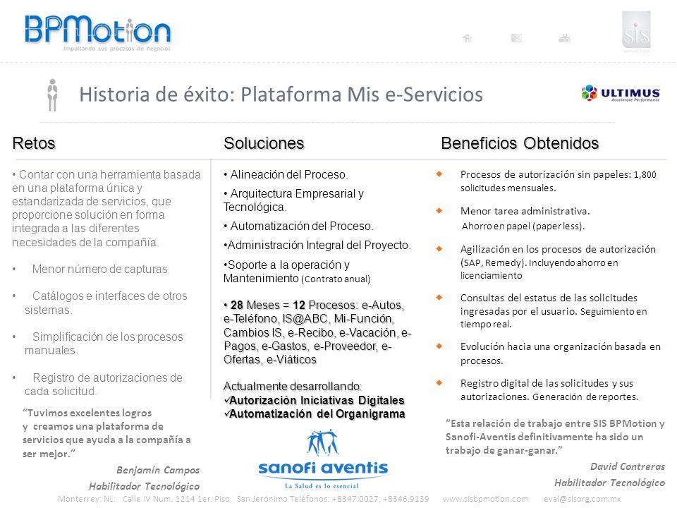 Historia de éxito: Plataforma Mis e-Servicios