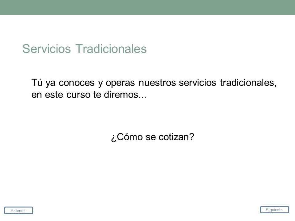 Servicios Tradicionales
