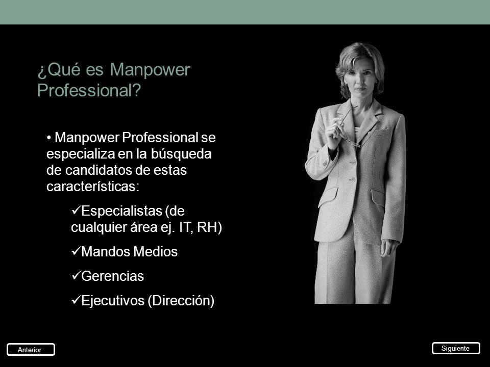 ¿Qué es Manpower Professional