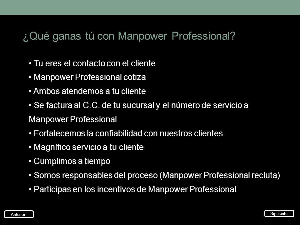 ¿Qué ganas tú con Manpower Professional