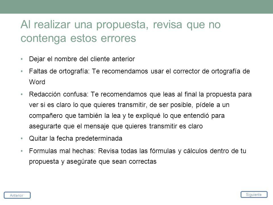 Al realizar una propuesta, revisa que no contenga estos errores
