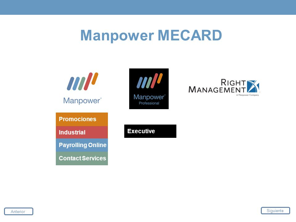 Manpower MECARD Promociones Executive Industrial Payrolling Online